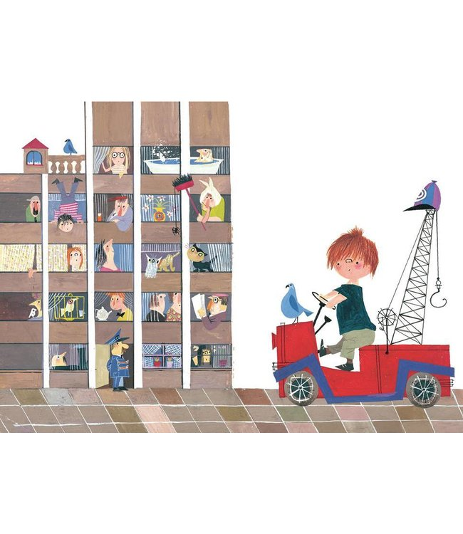 Wall Mural for kids Red Tow Truck II, 389.6 x 280 cm