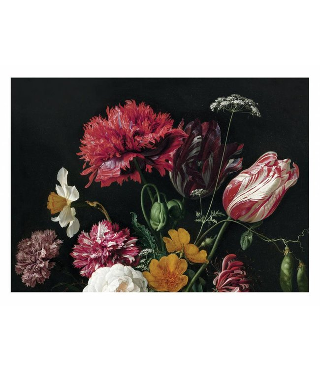 Wall Mural Golden Age Flowers 2, 389.6 x 280 cm