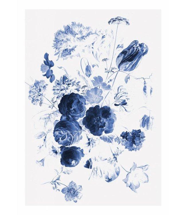 Wall Mural Royal Blue Flowers 1, 194.8 x 280 cm