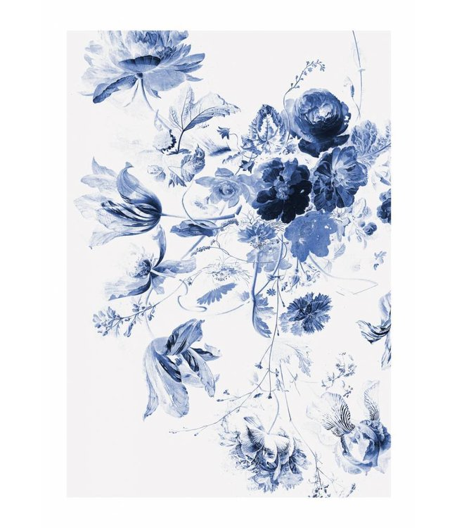 Fotobehang Royal Blue Flowers, 194.8 x 280 cm