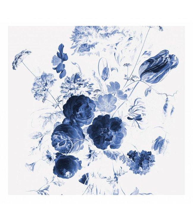 Wall Mural Royal Blue Flowers, 292.2 x 280 cm