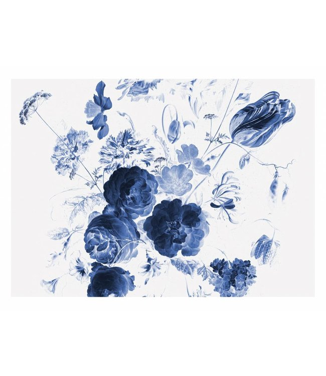 Fotobehang Royal Blue Flowers, 389.6 x 280 cm