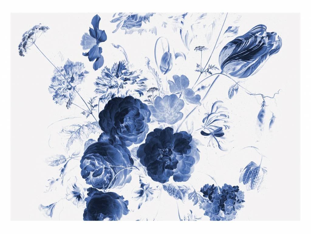 Fototapete Royal Blue Flowers 1 389 6 X 280 Cm