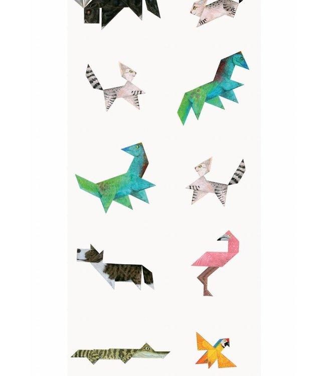 Tapete für Kinderzimmer Tangram Animals