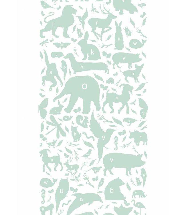 Behang ABC Animals, Groen, 146.1x 280 cm