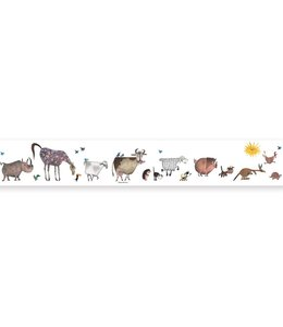 Wallpaper Border Animal Parade