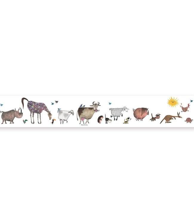 Wallpaper border Animal Parade