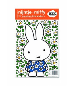 Nijntje muurstickers Blue flower dress