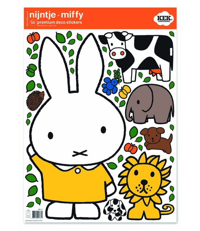 Miffy Wandtattoos Miffy with animals, 42 x 59 cm