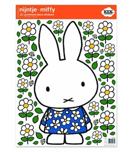 Miffy Wandtattoos Miffy with Blue flower dress