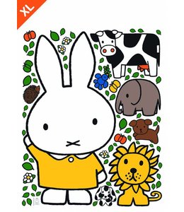 Miffy Wandtattoos Miffy with Gelb dress XL