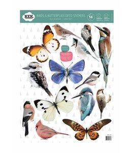 Birds & Butterflies (14 Wall Stickers)