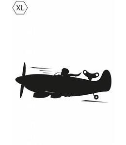 Schoolbordsticker  for Boys Airplane, XL