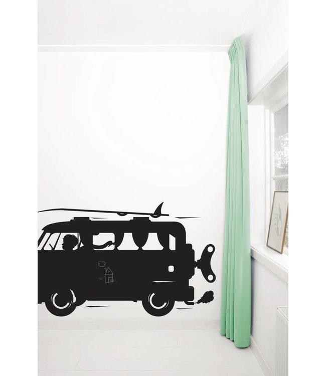 Chalkboard sticker Toys for Boys Surf Van, XL: 150 x 88 cm