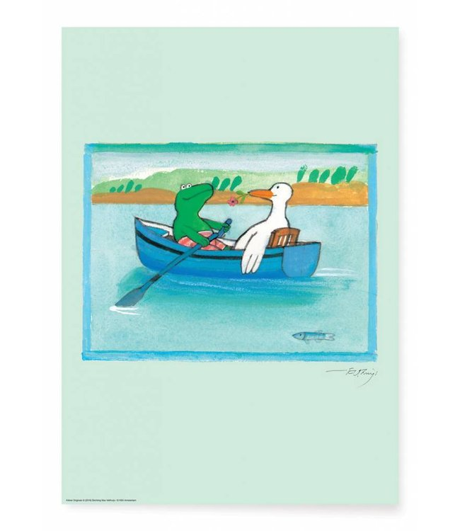 Poster Frog Boat, 42 x 59.4 cm