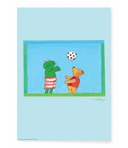 Poster Frog Soccer