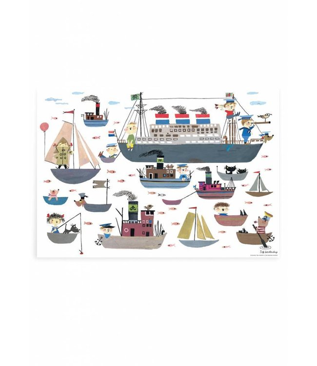 Poster Holland America Line, 59.4 x 42 cm