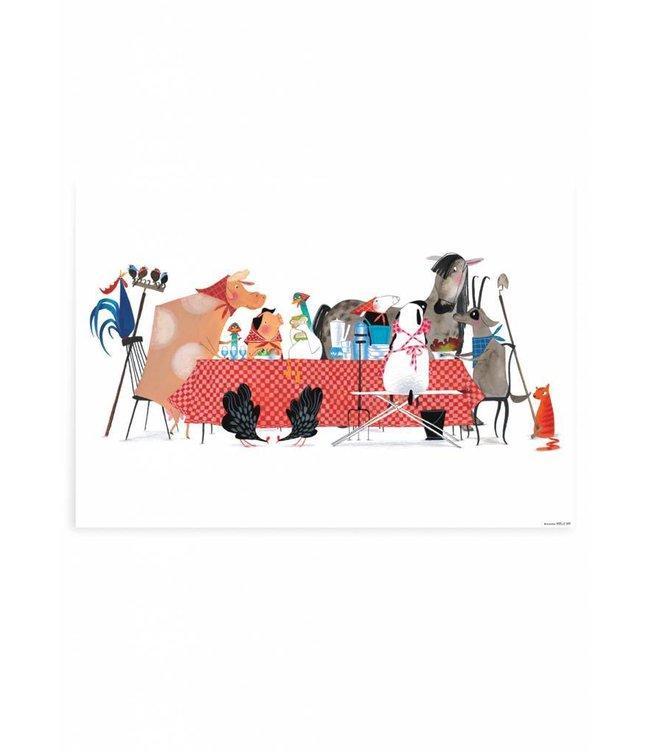 Poster Bon Appetit, 59.4 x 42 cm