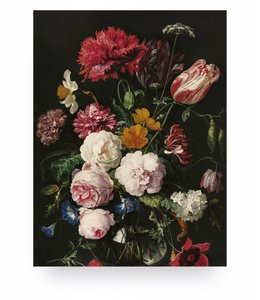 Print op hout Golden Age Flowers 2, S