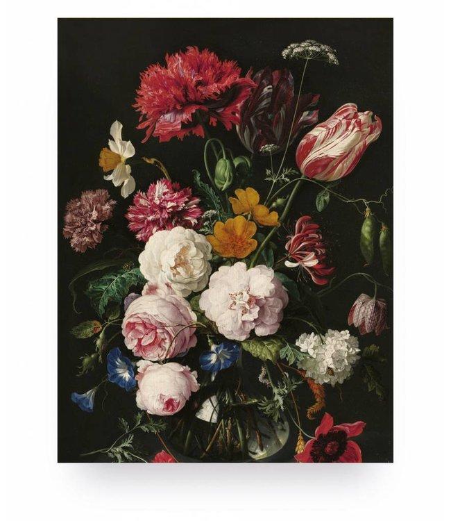 Prints auf Holz, Golden Age Flowers 2, S, 45 x 60 cm