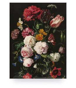 Print op hout Golden Age Flowers, M