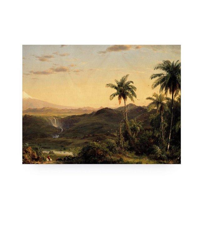 Print op hout, Golden Age Landscape 2, M, 60 x 80 cm