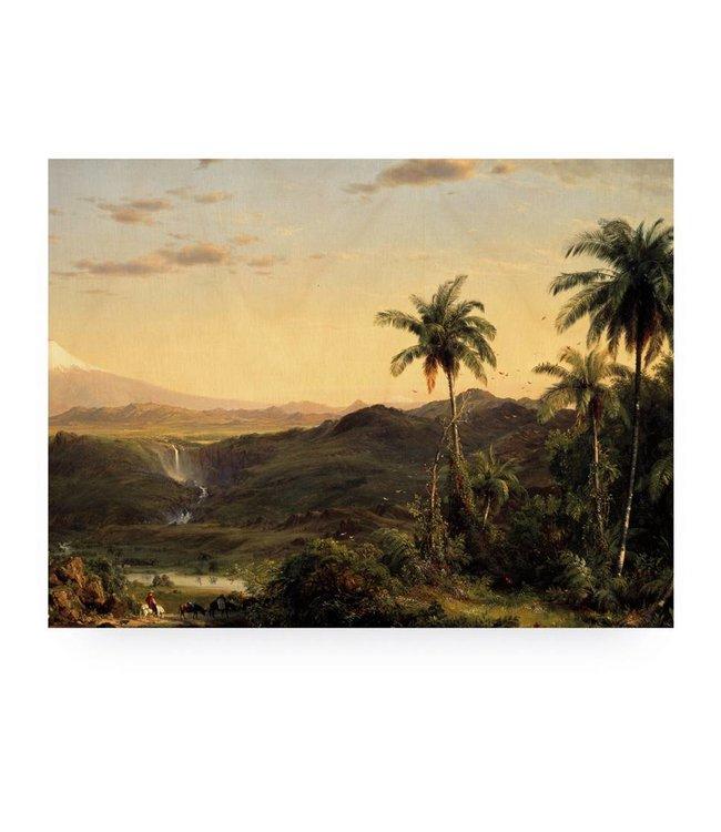 Print op hout, Golden Age Landscape, L, 100 x 75 cm