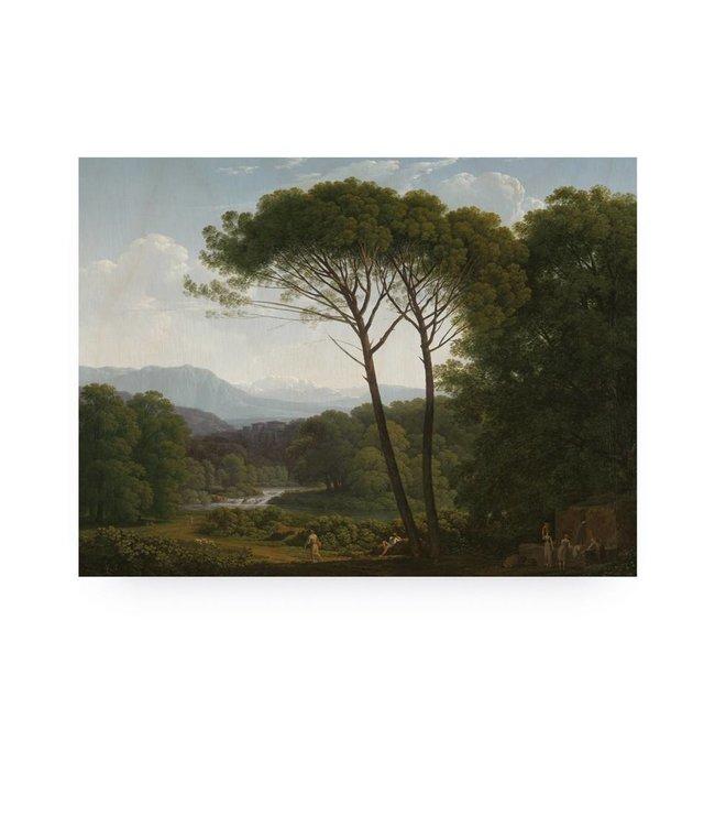 Print op hout, Golden Age Landscape 3, M, 80 x 60 cm