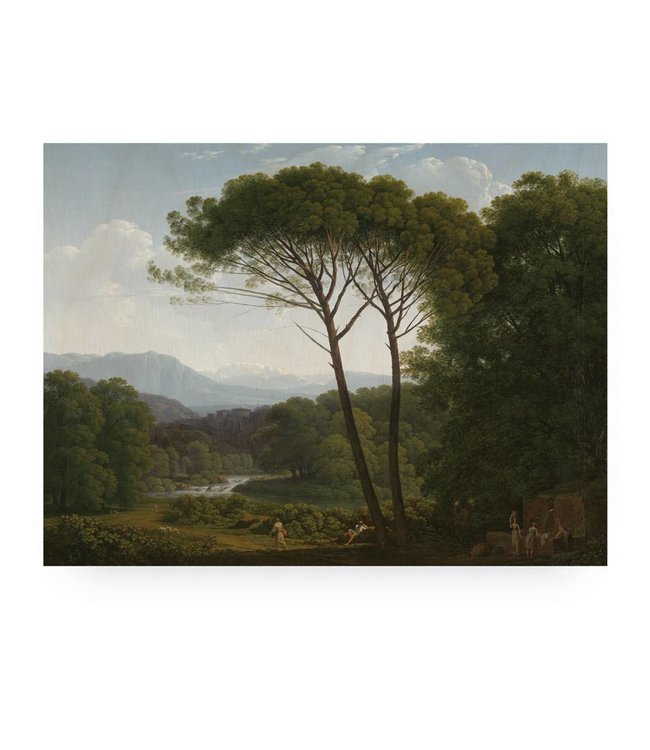 Print op hout, Golden Age Landscape 3, L, 100 x 75 cm