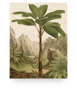 Print op hout Banana Tree, M