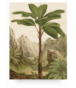 Print op hout Banana Tree, L
