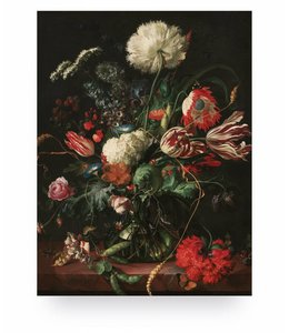 Print op hout Golden Age Flowers 1, S