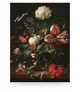 Prints auf Holz, Golden Age Flowers 1, M