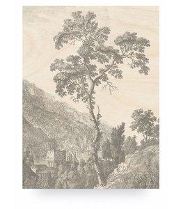 Print op hout Engraved Tree, L