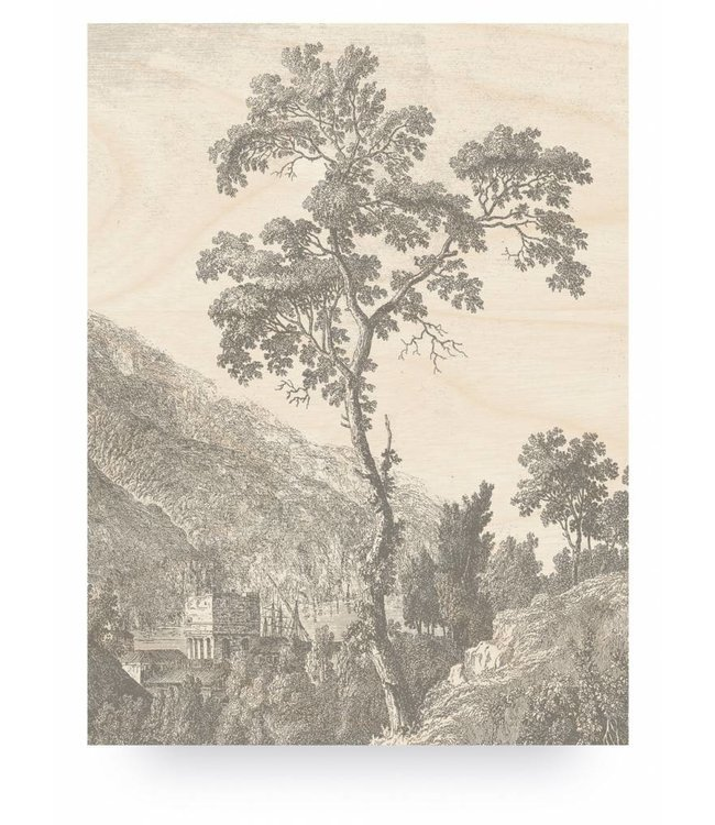 Prints auf Holz, Engraved Tree, L, 75 x 100 cm