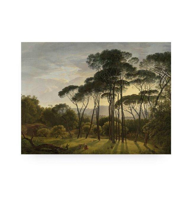 Wood print, Golden Age Landscape, M, 80 x 60 cm