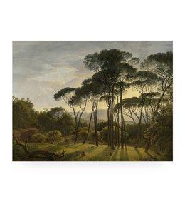 Print op hout Golden Age Landscape, L