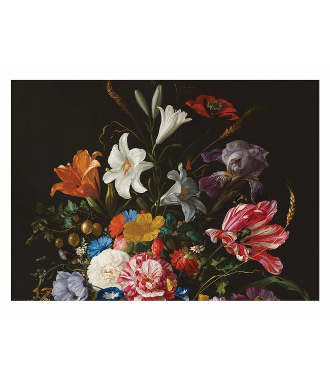Wall Mural Golden Age Flowers, 389.6 x 280 cm