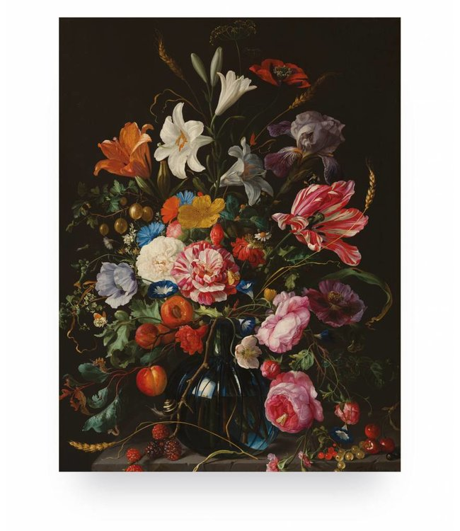 Prints auf Holz, Golden Age Flowers 5, S, 45 x 60 cm