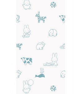 Dick Bruna Miffy tapete Animals, Blau