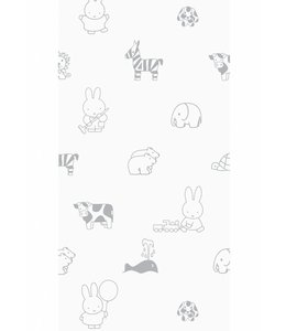 Dick Bruna Miffy wallpaper Animals, Grey
