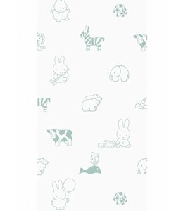 Miffy wallpaper Animals, Green