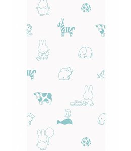 Dick Bruna Miffy tapete Animals, Mint