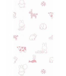 Nijntje behang Animals, Roze