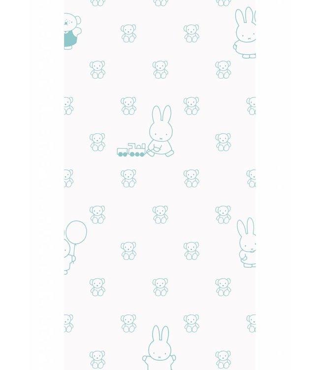 Nijntje behang Bears, Mint, 97.4 x 280 cm