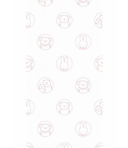 Dick Bruna Miffy wallpaper Portraits, Pink