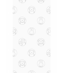Dick Bruna Miffy wallpaper Portraits, Grey
