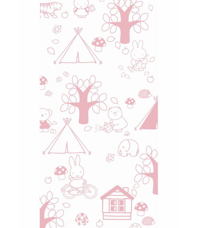 Miffy tapete Outdoor Fun, Rosa, 97.4 x 280 cm