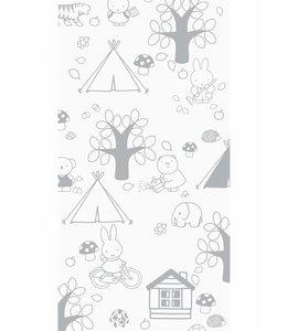 Miffy wallpaper Outdoor Fun, Grey
