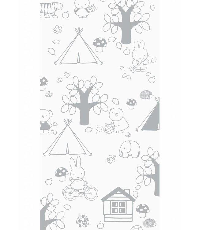 Miffy tapete Outdoor Fun, Gris, 97.4 x 280 cm
